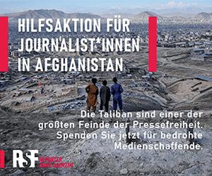 Hilfe für Journalistinnen und Journalisten in Afghanistan