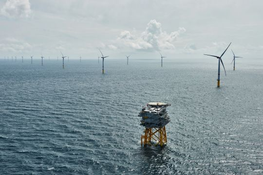 Offshore-Windpark Sandbank in der Nordsee