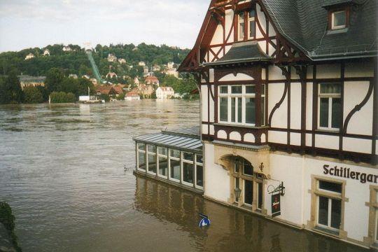 Elbe-Hochwasser 2002 in Dresden
